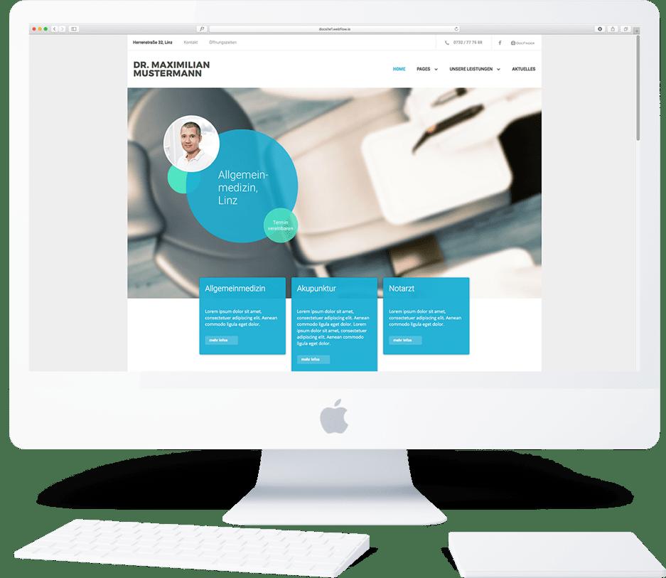 Erstellen Sie ihre eigene Professionelle Webseite für Ärzte